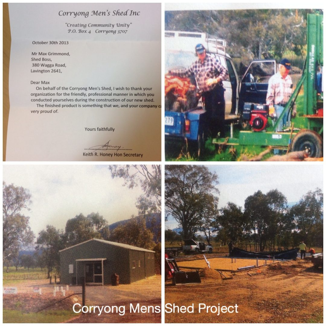 Corryong Mens Shed Shedboss